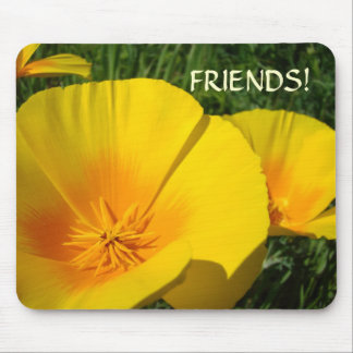 CHRISTMAS GIFTS FRIENDS Poppy Flower Mousepad