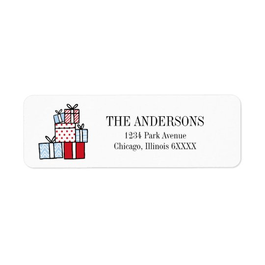Christmas Gifts Holiday Address Label