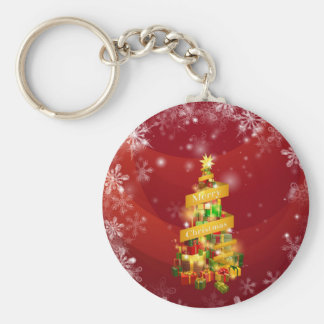 Christmas gifts snowflakes background key chains
