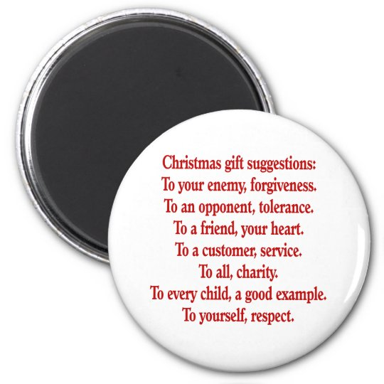 Christmas Gifts with Saying or Quote 6 Cm Round Magnet