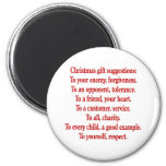 Christmas Gifts with Saying or Quote Magnets