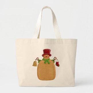 Christmas Ginger Bread Man Jumbo Tote Bag