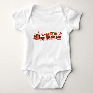 Christmas Ginger Bread Train Baby Bodysuit