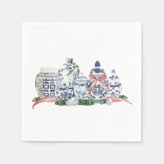 Christmas Ginger Jars by Redux121DesignStudio Paper Napkin