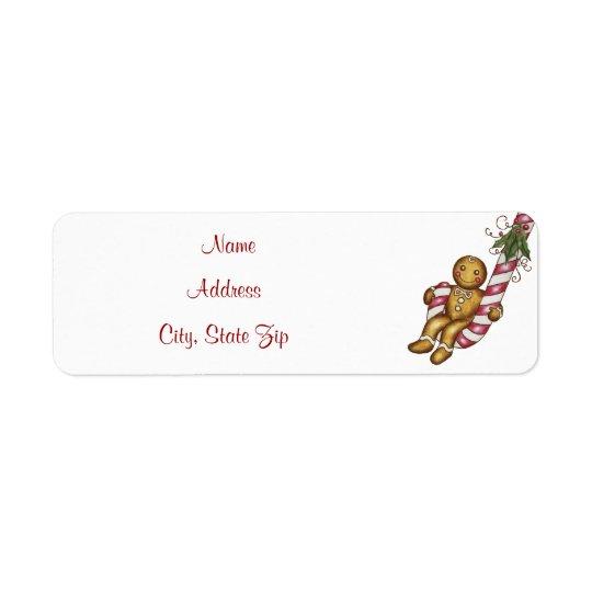 Christmas Gingerbread Address Label