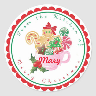 Christmas Gingerbread Baking Stickers Labels