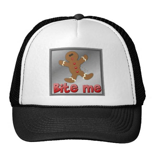 CHRISTMAS GINGERBREAD BITE ME COOKIE APARRELL MESH HAT