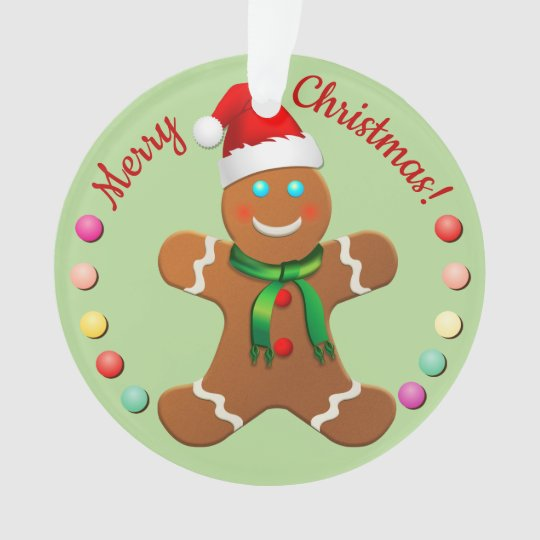 Christmas Gingerbread Boy And Girl Ornament