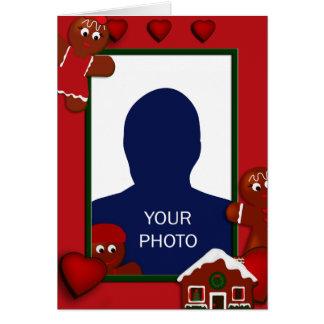 Christmas Gingerbread Boy Photo Frame Card