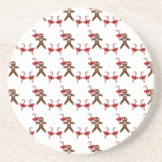 Christmas Gingerbread Candy Beverage Coasters