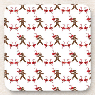 Christmas Gingerbread Candy Beverage Coaster