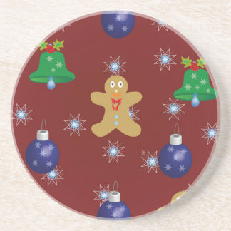 Christmas Gingerbread Drink Coasters