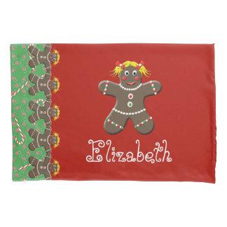Christmas Gingerbread Cookie Girl Name Elizabeth Pillowcase