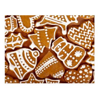 Christmas Gingerbread Cookies Postcards
