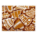 Christmas Gingerbread Cookies Postcards