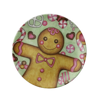 Christmas Gingerbread Decorative Plate Porcelain Plate