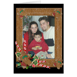 Christmas Gingerbread Frame card photo