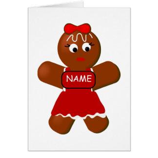 Christmas Gingerbread Girl Greeting Card