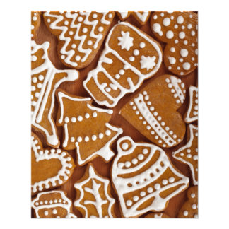 Christmas Gingerbread Holiday Cookies 11.5 Cm X 14 Cm Flyer
