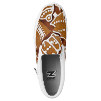 Christmas Gingerbread Holiday Cookies Slip-On Shoes