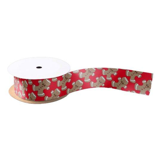 Christmas Gingerbread Holiday gift ribbon Satin Ribbon