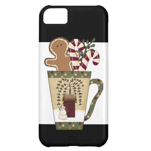 Christmas Gingerbread Holiday Greetings iPhone 5C Covers
