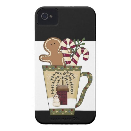 Christmas Gingerbread Holiday Greetings Blackberry Bold Cases