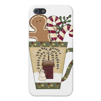 Christmas Gingerbread Holiday Greetings iPhone 5/5S Cover