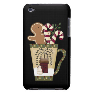 Christmas Gingerbread Holiday Greetings iPod Case-Mate Case