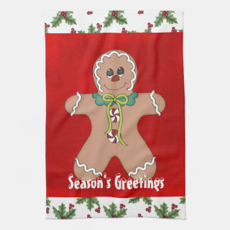 Christmas Gingerbread Holiday kitchen towel