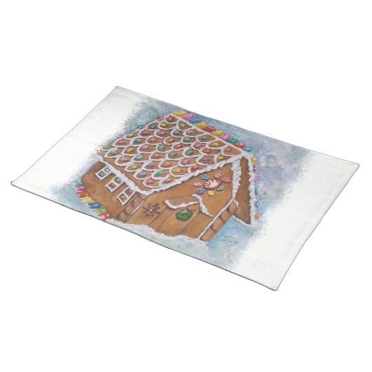 Christmas Gingerbread House Placemat