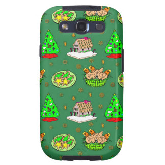 Christmas – Gingerbread Houses & Frosted Cookies Samsung Galaxy S3 Cases