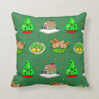 Christmas – Gingerbread Houses & Frosted Cookies Cushions