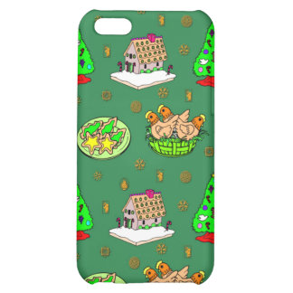 Christmas – Gingerbread Houses & Frosted Cookies iPhone 5C Case
