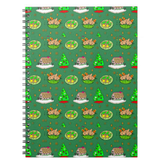 Christmas – Gingerbread Houses & Frosted Cookies Spiral Notebook