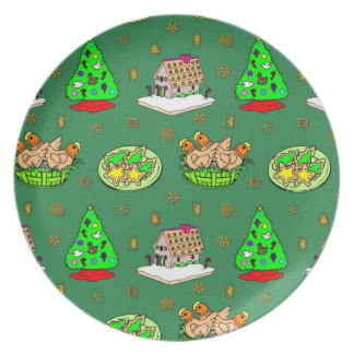 Christmas – Gingerbread Houses & Frosted Cookies Plate