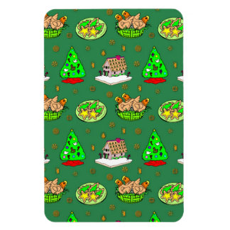 Christmas – Gingerbread Houses & Frosted Cookies Rectangular Magnet