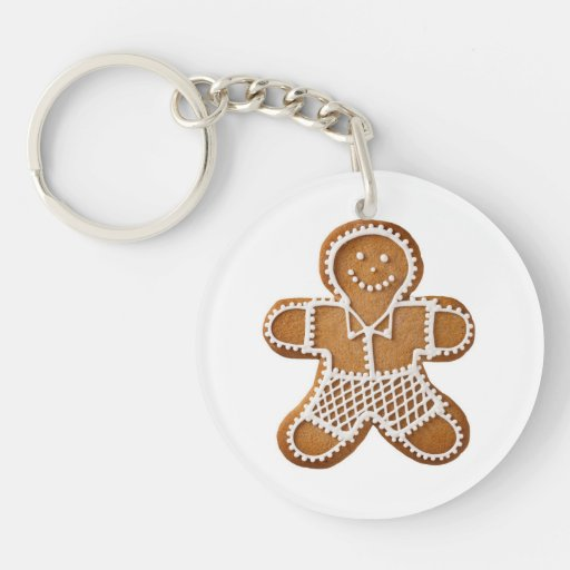 Christmas Gingerbread Man And Woman Keychain