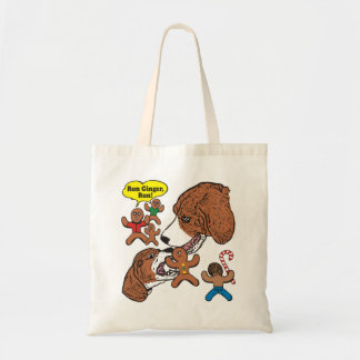Christmas Gingerbread Man Being Eaten by Dogs Tote