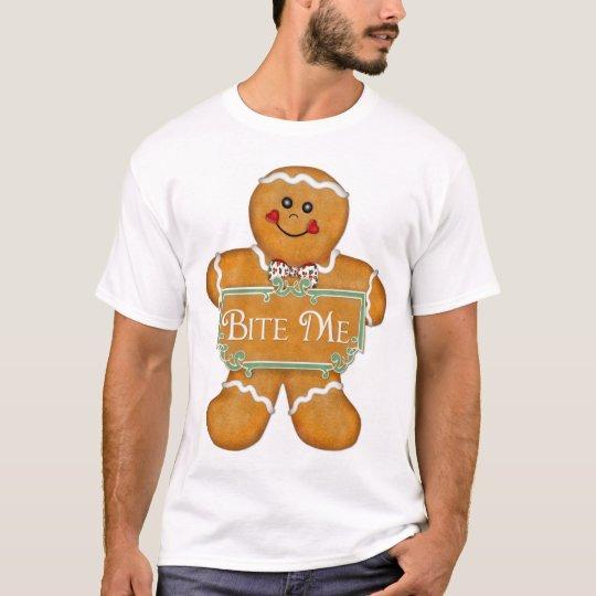 Christmas Gingerbread Man - Bite Me T-Shirt