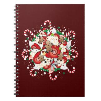 Christmas Gingerbread Man Bouquet Notebook