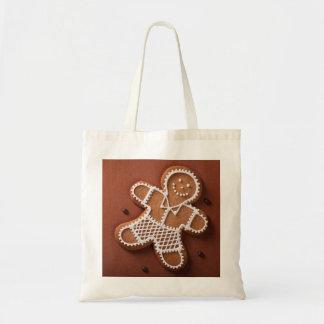 Christmas Gingerbread Man Budget Tote Bag