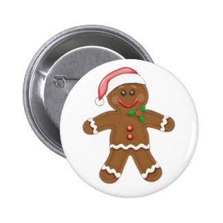 Christmas Gingerbread man Button