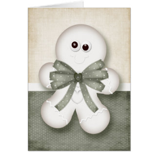 Christmas Gingerbread Man Card