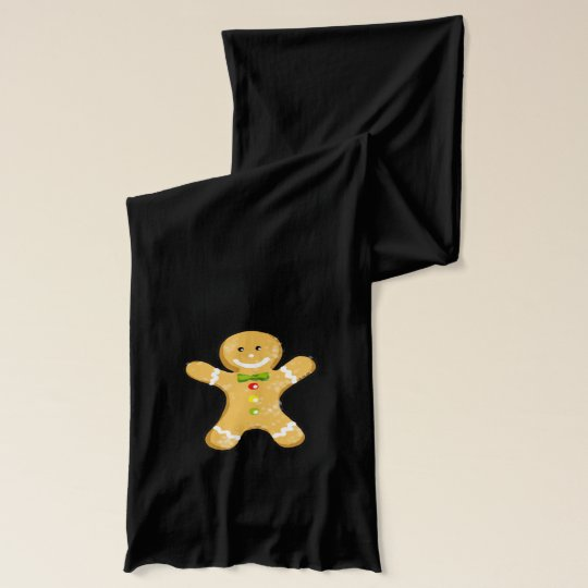 Christmas gingerbread man cookie scarf