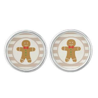 Christmas Gingerbread Man Cuff Links