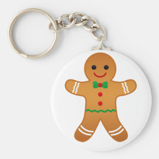 Christmas Gingerbread Man Gifts Basic Round Button Key Ring