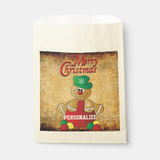 Christmas Gingerbread Man Gumdrops Favour Bags