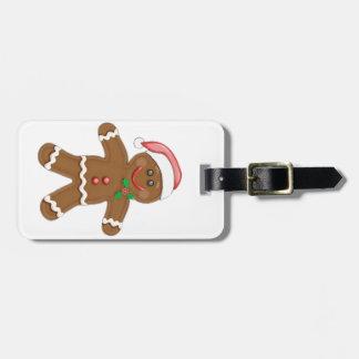 Christmas Gingerbread man Luggage Tags