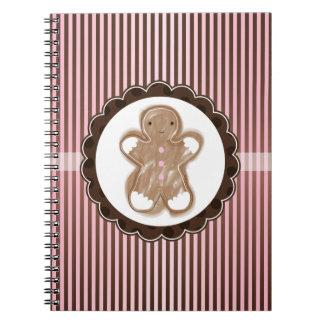 Christmas Gingerbread Man Notebook